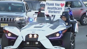 First responders show appreciation for healthcare workers at Virtua Health Our Lady of Lourdes Hospital