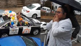 Woman with Down syndrome surprised with car parade on 21st birthday
