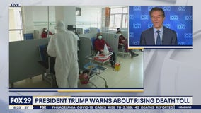 President Trump warns about rising COVID-19 death roll
