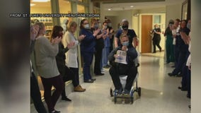 Rocky theme song played as COVID-19 patient discharged from hospital
