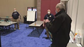 Gov. Phil Murphy tours field hospital at Atlantic City Convention Center