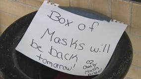 'Mask Angel' leaves boxes of masks outside Camden County coffee shop