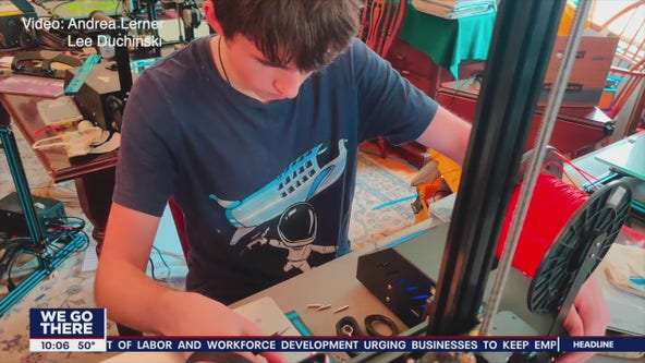 Local teen uses 3D printer to help healthcare workers combat COVID-19