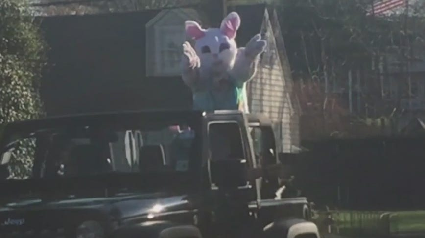 Easter Bunny spreads cheer throughout New Jersey amid COVID-19