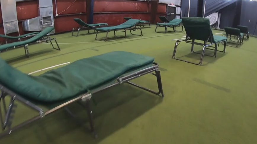 Sports training facility at the Newtown Athletic Club transforms into field hospital