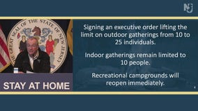 Murphy boosts NJ's outdoor gathering limit from 10 to 25