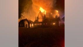 5-alarm fire destroys historic Delaware County church