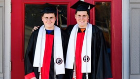 Brotherly bond unbreakable for identical twins headed to college after graduating top of their class