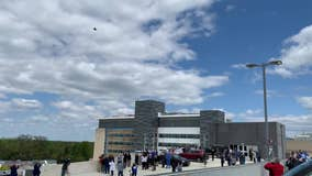 New Jersey Air National Guard perform flyover in honor of frontline workers
