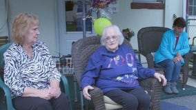 Drive-by parade held for Nether Providence Township woman celebrating 100th birthday