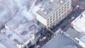 Multiple firefighters injured as DTLA building explodes into flames