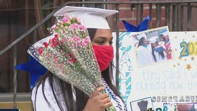 Family and friends celebrate North Philly college graduate with drive-by parade