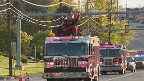 Gritty parades down Delaware County streets to lift spirits amid COVID-19 pandemic