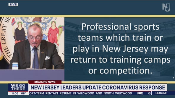 New Jersey to allow professional sports teams to return to training, play