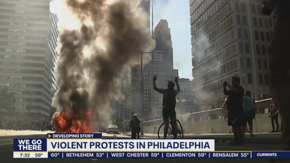 Anti-police brutality protests turn into violent riots in Philadelphia