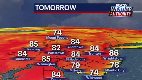 Weather Authority: Warm Friday with chance of showers