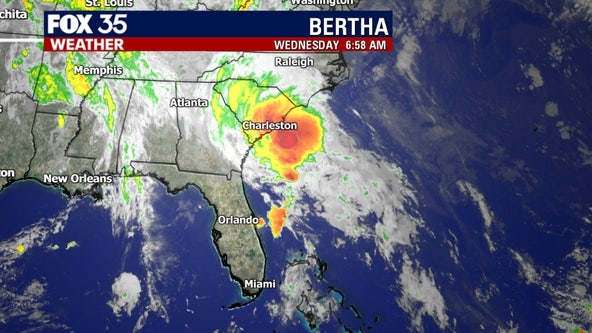 Tropical Storm Bertha forms near coast of South Carolina