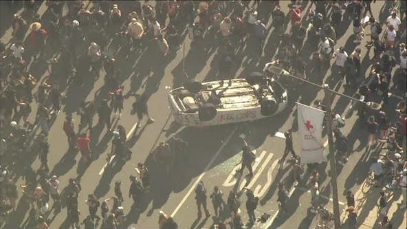 Police: 13 officers injured, dozens arrested during riots in Philadelphia