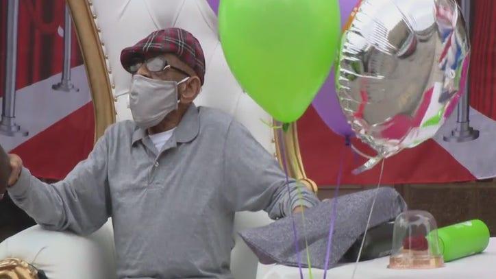 West Philadelphia military veteran celebrates 102 birthday with drive-by parade