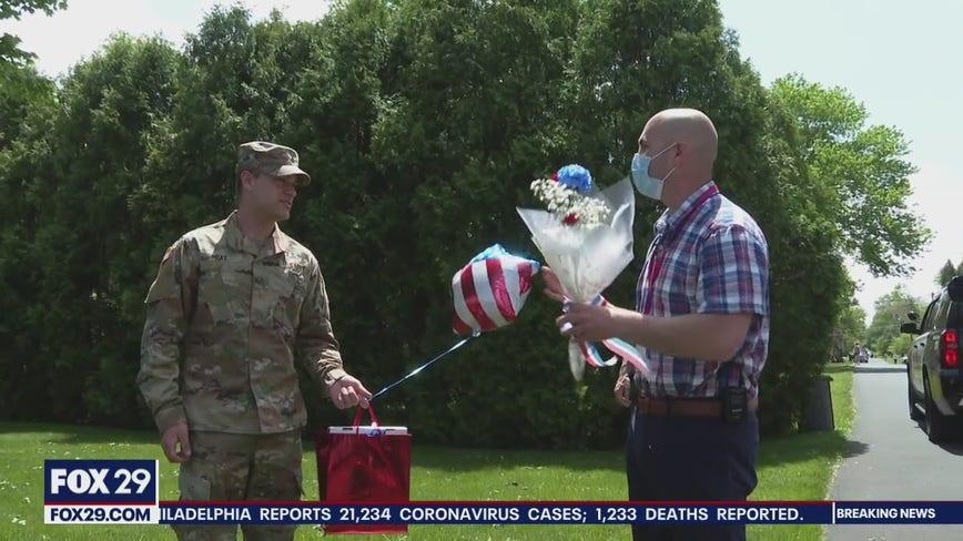 Neshaminy High School honors graduating seniors joining military