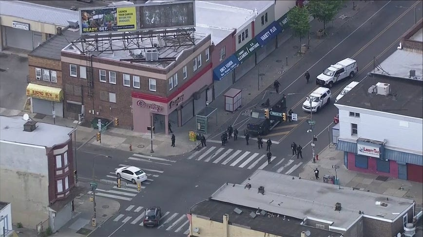 Police clash with crowds in West Philadelphia