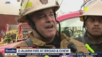 Fire Commissioner: Crews 'taking great risk to protect these businesses and to save lives'