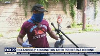 Community members clean up Kensington after protests, looting