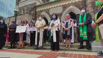 Church, clergy members walk with protesters in Allentown