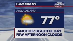 Weather Authority: Pleasant, sunny conditions continue Sunday