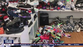Cleaning company helps donate sneakers after stores are looted