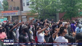 Hundreds march in West Philadelphia recognizing Juneteenth
