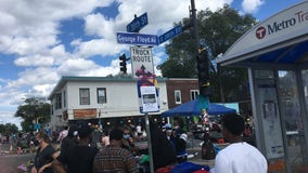 Unofficial 'George Floyd Ave.' sign installed at 38th and Chicago in Minneapolis