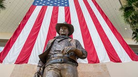 Democrats want John Wayne's name, statue taken off airport