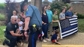 Officers give final pat to Missouri Highway Patrol K-9 diagnosed with terminal illness