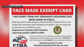 'Face mask exemption cards' circulating on social media are fake, DOJ says