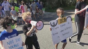 Local 7-year-old boy organizes Black Lives Matter march