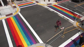Key West installs new permanent rainbow crosswalks