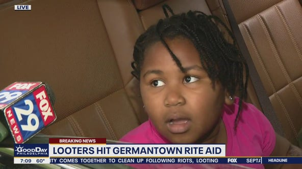 'Makes me feel mad and sad': Young Philadelphian reacts to looting in Germantown