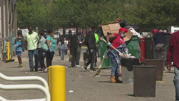 West Philadelphia community comes together to clean up following riots, looting