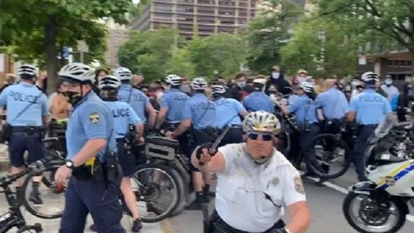 DA: Philadelphia police staff inspector faces charges following incident with protester