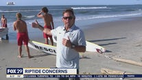 Safety during strong riptides for swimmers and beach goers