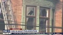 Fire crews battle early morning blaze in West Philadelphia