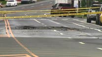 Several homes without water after pipe burst causes street flooding in Torresdale