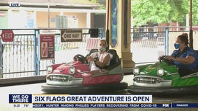 Six Flags Great Adventure reopens the rides