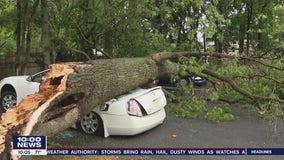 Storms wreak havoc across Delaware Valley Monday