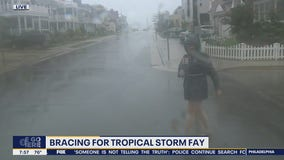 Tropical Storm Fay starts to impact the Jersey Shore