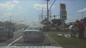 Good Samaritans pull driver from car before it bursts into flames in Burlington Township