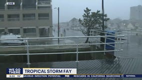 Tropical Storm Fay impacts the Jersey shore