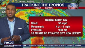 Tropical Storm Fay makes landfall near Atlantic City