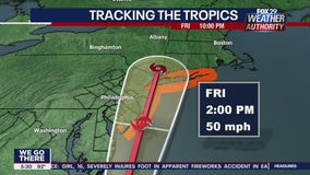 Tropical Storm Warnings in effect for New Jersey as Fay forms along coast